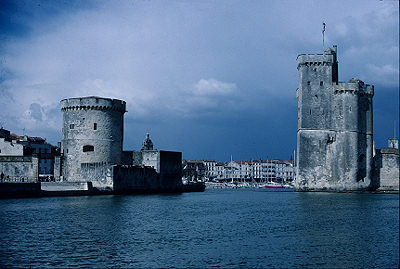 The entrance to La Rochelle harbour