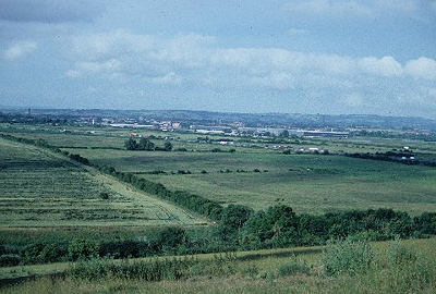 Looking towards Bridgwater from Puriton Hill